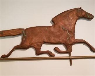 Copper Racing Horse Weathervane