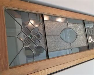 Antique Leaded Glass transom window