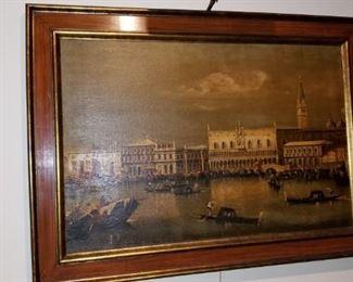 Venetian Lagoon oil of the Dodge's Palace