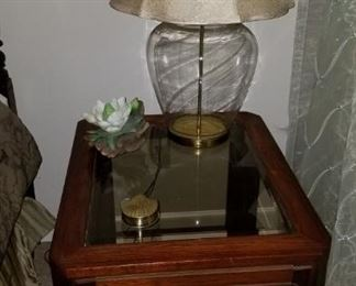 Side Table and decorative items