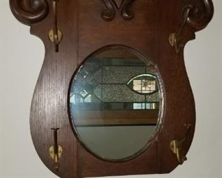 Mirrored Carved Hat/Coat Rack