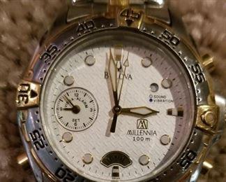 Bulova 98A48 Millennia Mens sport watch sound or vibration alarm