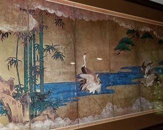 Oriental paneled wall hanging