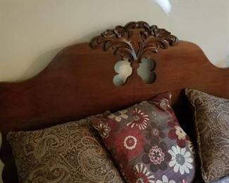 East Lake Style Headboard on the queen bed