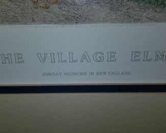 Print of the Village Elms Sunday Morning in New England