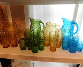 Lots of colored glass sets