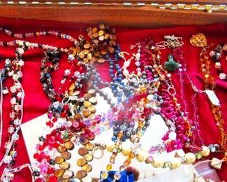 Many Svarowski crystal necklaces
