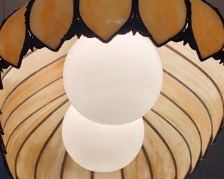 Slag glass Oblong Pendant Lamp