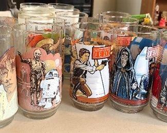 Vintage Star Wars glass set
