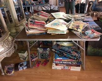 Collectables newspapers and games