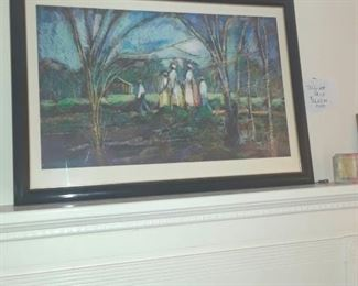 "William Tolliver, signed and numbered print, ""Going to Church"""