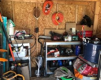 Yard tools, chainsaws, extension cords, tools