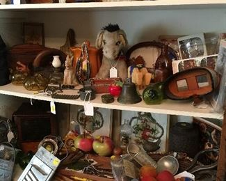 Some of the vintage kitchen items and misc. on display