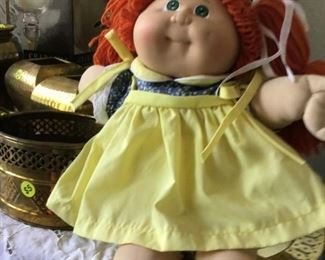 Vintage cabbage patch doll with original papers.  Birthdate Sept.9