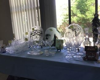 Crystal Barware , platters and bowls