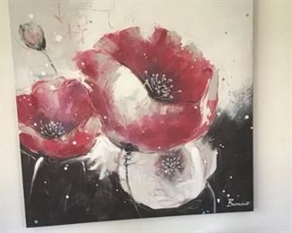 Large Floral Print on Canvas