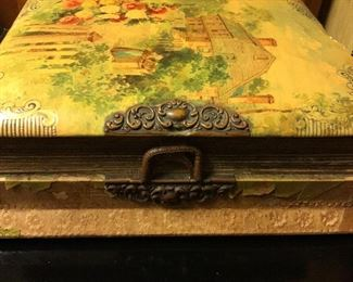 Lovely Antique Picture Album with Music Box