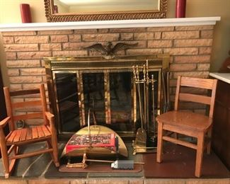 Child's Chairs, Fireplace Utensils