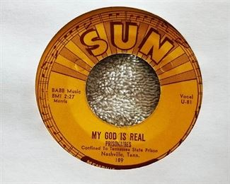 """Sun Record #189, Prisonaires, """"My God is Real"""""""