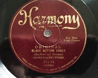 "Antique Harmony 78 Record, Georgia Strutters ""Black Bottom Dance"""