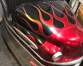 Flame on with this 1950's Lusse Auto Scooter.