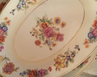 Lovely china set, old Czechoslovakia rose pattern