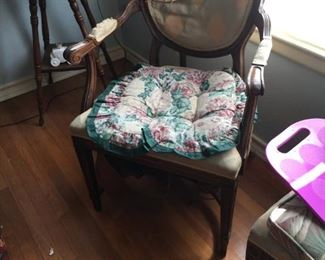 Very old set of dining chairs with horsehair stuffing--six in all as a project