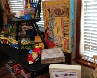 Lots of toys and dolls still in original boxes