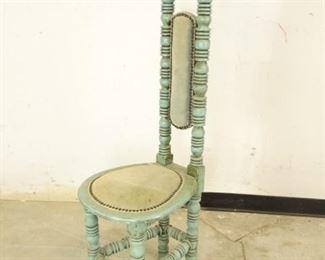 Antique Green Hallway Chair