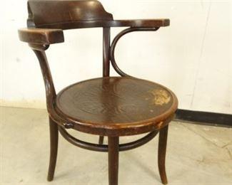Wood Barrel Chair