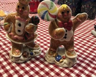 gingerbread figurines/salt and pepper shakers