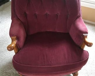 Maroon Wingback Chair