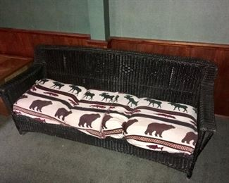 Vintage Wicker Sofa