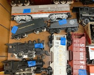 numbers on trains are inventory numbers- Not prices