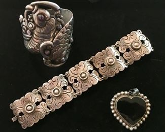 Vintage Mexican sterling jewelry