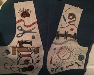 Add a back and lining and have yourself a tapestry sewing vest. Size Small