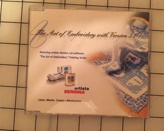 DVD describing how to use Bernina V3 software.