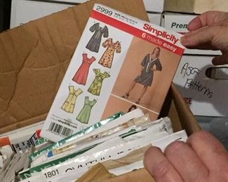 Lots of sewing patterns, womens, mens, childrens.