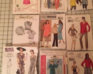 "Many brand new unopened sewing patterns includes womens, vintage, folkwear and  more!  Choose from ""the big four"" and great new independent pattern makers."