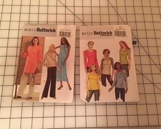 Example of some of the patterns available...these are new uncut Butterick patterns.   Sew a top, or a whole new outfit.