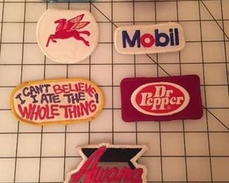 Embroidered patches to sew on to your favorite hat,  vest or jacket.