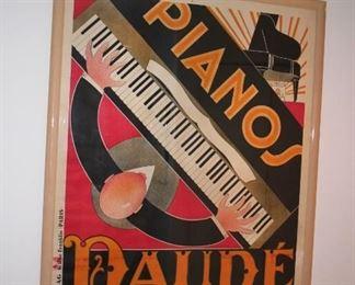 Framed Piano Poster - Daude