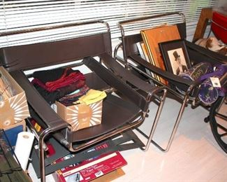 2 Marcel Breuer Barcelona Chairs