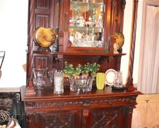 Carved, Antique Hutch