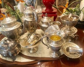 Sterling Silver Tea Set and other Pieces