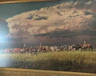 David Sanders original oil pastel. A gorgeous piece of art.