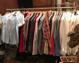 Mens XS shirts,t shirts  different brands including Naracamicie,  A/X, LaCoste, Burberry, Polo and more. All in immaculate condition.