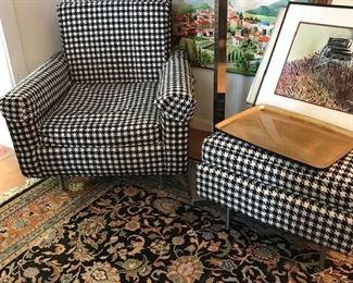 Original Knoll chair/ottoman and fabric