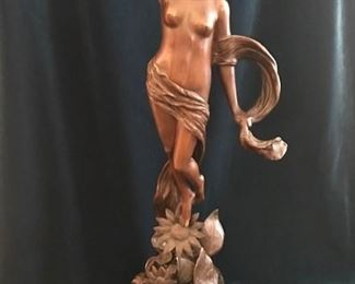 """Patinated Bronze by Franz Rosse. """" Fairy & Butterfly"""""""
