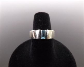 .925 Sterling Silver JAMES AVERY Topaz Ring Size 6.75